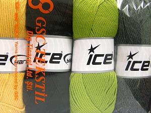 Fiber Content 52% Nylon, 48% Acrylic, Mixed Lot, Brand Ice Yarns, Yarn Thickness 4 Medium Worsted, Afghan, Aran, fnt2-64672