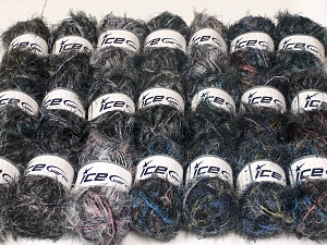 Eyelash Blends In this list; you see most recent 50 mixed lots. <br> To see all <a href=&/mixed_lots/o/4#list&>CLICK HERE</a> (Old ones have much better deals)<hr> This mixed lot includes a total of 2000 gr (70.5 oz.) unlabeled yarn. There is no standard for ball weight. You will get what you see in the photo. Brand Ice Yarns, fnt2-64735