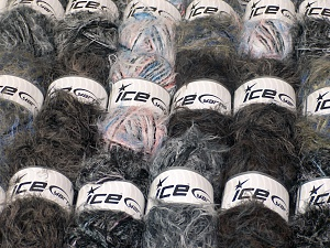 Eyelash Blends In this list; you see most recent 50 mixed lots. <br> To see all <a href=&/mixed_lots/o/4#list&>CLICK HERE</a> (Old ones have much better deals)<hr> This mixed lot includes a total of 2000 gr (70.5 oz.) unlabeled yarn. There is no standard for ball weight. You will get what you see in the photo. Brand Ice Yarns, fnt2-64739