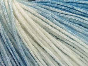 Modal is a type of yarn which is mixed with the silky type of fiber. It is derived from the beech trees. Fiber Content 74% Modal, 26% Wool, Brand Ice Yarns, Ecru, Blue, Yarn Thickness 3 Light  DK, Light, Worsted, fnt2-64806