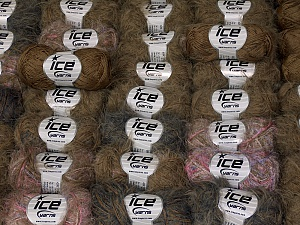 Eyelash Blends In this list; you see most recent 50 mixed lots. <br> To see all <a href=&/mixed_lots/o/4#list&>CLICK HERE</a> (Old ones have much better deals)<hr> This mixed lot includes a total of 2000 gr (70.5 oz.) yarn. There is no standard for ball weight. Also disregard any information on the labels. You will get what you see in the photo. Brand Ice Yarns, fnt2-64830