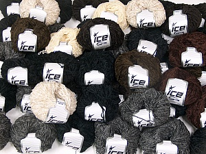 Amigurumi Chenille In this list; you see most recent 50 mixed lots. <br> To see all <a href=&/mixed_lots/o/4#list&>CLICK HERE</a> (Old ones have much better deals)<hr> This mixed lot includes a total of 2000 gr (70.5 oz.) yarn. There is no standard for ball weight. Also disregard any information on the labels. You will get what you see in the photo. Fiber Content 100% Polyester, Brand Ice Yarns, fnt2-64860