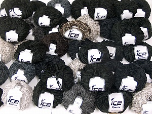 Amigurumi Chenille In this list; you see most recent 50 mixed lots. <br> To see all <a href=&/mixed_lots/o/4#list&>CLICK HERE</a> (Old ones have much better deals)<hr> This mixed lot includes a total of 2000 gr (70.5 oz.) yarn. There is no standard for ball weight. Also disregard any information on the labels. You will get what you see in the photo. Fiber Content 100% Polyester, Brand Ice Yarns, fnt2-64891