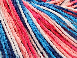 Fiber Content 100% Acrylic, White, Salmon Shades, Brand Ice Yarns, Blue Shades, Yarn Thickness 2 Fine  Sport, Baby, fnt2-64904