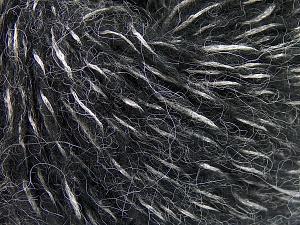 Fiber Content 60% Acrylic, 21% Polyester, 19% Alpaca, Silver, Brand Ice Yarns, Black, Yarn Thickness 4 Medium Worsted, Afghan, Aran, fnt2-64917