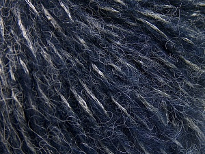 Fiber Content 60% Acrylic, 21% Polyester, 19% Alpaca, Silver, Navy, Brand Ice Yarns, Yarn Thickness 4 Medium  Worsted, Afghan, Aran, fnt2-64918