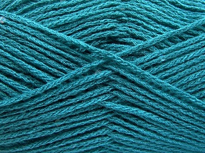 Fiber Content 98% Acrylic, 2% Paillette, Turquoise, Brand Ice Yarns, Yarn Thickness 4 Medium  Worsted, Afghan, Aran, fnt2-64923