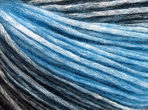 Modal is a type of yarn which is mixed with the silky type of fiber. It is derived from the beech trees. Fiber Content 74% Modal, 26% Wool, Brand Ice Yarns, Blue, Black, Yarn Thickness 3 Light  DK, Light, Worsted, fnt2-64934