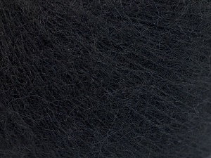 Fiber Content 40% Kid Mohair, 40% Alpaca Superfine, 3% Elastan, 17% Polyamide, Brand Ice Yarns, Black, Yarn Thickness 1 SuperFine  Sock, Fingering, Baby, fnt2-64983