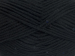 Fiber Content 98% Acrylic, 2% Paillette, Brand Ice Yarns, Black, Yarn Thickness 4 Medium  Worsted, Afghan, Aran, fnt2-64999