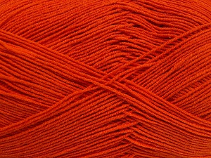 Fiber Content 55% Cotton, 45% Acrylic, Orange, Brand Ice Yarns, Yarn Thickness 1 SuperFine  Sock, Fingering, Baby, fnt2-65004