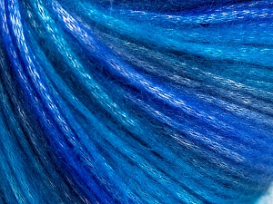 Fiber Content 56% Polyester, 44% Acrylic, Turquoise, Purple Shades, Brand Ice Yarns, Yarn Thickness 4 Medium  Worsted, Afghan, Aran, fnt2-65034