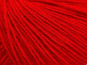 Fiber Content 40% Acrylic, 40% Merino Wool, 20% Polyamide, Red, Brand Ice Yarns, Yarn Thickness 2 Fine  Sport, Baby, fnt2-65046