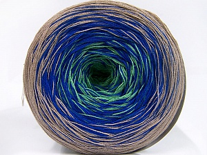Fiber Content 50% Acrylic, 50% Cotton, Light Green, Light Camel, Brand Ice Yarns, Blue, Yarn Thickness 2 Fine  Sport, Baby, fnt2-65058