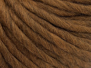 Fiber Content 100% Australian Wool, Brand Ice Yarns, Brown, Yarn Thickness 6 SuperBulky  Bulky, Roving, fnt2-65069