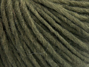 Fiber Content 50% Merino Wool, 25% Acrylic, 25% Alpaca, Khaki, Brand Ice Yarns, Yarn Thickness 5 Bulky  Chunky, Craft, Rug, fnt2-65079
