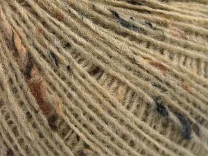 Fiber Content 50% Wool, 40% Acrylic, 10% Viscose, Brand Ice Yarns, Dark Cream, Yarn Thickness 2 Fine  Sport, Baby, fnt2-65086