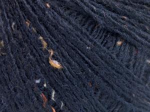 Fiber Content 50% Wool, 40% Acrylic, 10% Viscose, Brand Ice Yarns, Dark Navy, Yarn Thickness 2 Fine  Sport, Baby, fnt2-65093