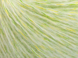 Fiber Content 50% Acrylic, 30% Wool, 20% Polyamide, White, Brand Ice Yarns, Green Shades, Yarn Thickness 3 Light  DK, Light, Worsted, fnt2-65124