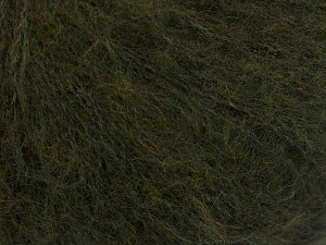 Knitted as 4 ply Fiber Content 40% Polyamide, 30% Acrylic, 30% Kid Mohair, Brand Ice Yarns, Dark Khaki, Yarn Thickness 1 SuperFine  Sock, Fingering, Baby, fnt2-65155