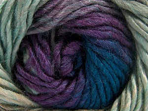 Fiber Content 50% Wool, 50% Acrylic, Turquoise, Purple, Brand Ice Yarns, Camel, Yarn Thickness 5 Bulky  Chunky, Craft, Rug, fnt2-65181