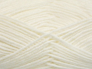 Fiber Content 50% Wool, 50% Acrylic, White, Brand Ice Yarns, Yarn Thickness 4 Medium  Worsted, Afghan, Aran, fnt2-65185