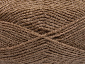 Fiber Content 50% Wool, 50% Acrylic, Brand Ice Yarns, Camel, Yarn Thickness 4 Medium  Worsted, Afghan, Aran, fnt2-65186