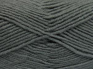 Fiber Content 50% Wool, 50% Acrylic, Brand Ice Yarns, Grey, Yarn Thickness 4 Medium  Worsted, Afghan, Aran, fnt2-65187