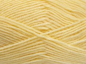 Fiber Content 50% Wool, 50% Acrylic, Light Yellow, Brand Ice Yarns, Yarn Thickness 4 Medium Worsted, Afghan, Aran, fnt2-65189
