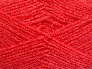 Fiber Content 50% Acrylic, 50% Wool, Salmon, Brand Ice Yarns, Yarn Thickness 4 Medium  Worsted, Afghan, Aran, fnt2-65190