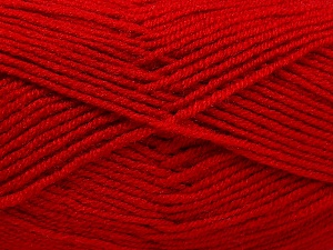 Fiber Content 50% Wool, 50% Acrylic, Red, Brand Ice Yarns, Yarn Thickness 4 Medium  Worsted, Afghan, Aran, fnt2-65191