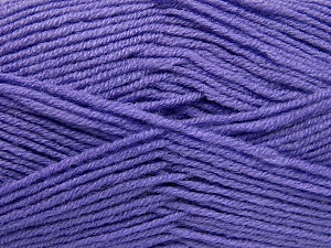 Fiber Content 50% Wool, 50% Acrylic, Lilac, Brand Ice Yarns, Yarn Thickness 4 Medium  Worsted, Afghan, Aran, fnt2-65192