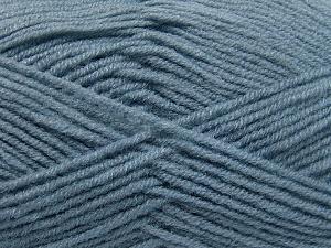 Fiber Content 50% Wool, 50% Acrylic, Indigo Blue, Brand Ice Yarns, Yarn Thickness 4 Medium  Worsted, Afghan, Aran, fnt2-65193
