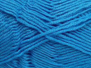 Fiber Content 50% Wool, 50% Acrylic, Turquoise, Brand Ice Yarns, Yarn Thickness 4 Medium  Worsted, Afghan, Aran, fnt2-65194
