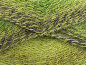 Fiber Content 65% Premium Acrylic, 35% Mohair, Purple, Brand Ice Yarns, Green Shades, Yarn Thickness 3 Light  DK, Light, Worsted, fnt2-65201