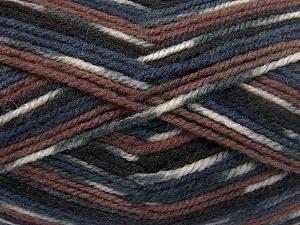 Fiber Content 50% Acrylic, 50% Wool, White, Brand Ice Yarns, Grey, Brown Shades, Black, Yarn Thickness 4 Medium  Worsted, Afghan, Aran, fnt2-65204
