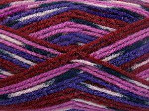 Fiber Content 50% Wool, 50% Acrylic, Purple, Light Pink, Brand Ice Yarns, Fuchsia, Burgundy, Black, Yarn Thickness 4 Medium  Worsted, Afghan, Aran, fnt2-65205