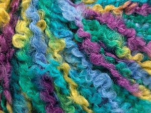 Fiber Content 55% Acrylic, 35% Wool, 10% Polyamide, Purple, Light Blue, Brand Ice Yarns, Green Shades, Yarn Thickness 5 Bulky  Chunky, Craft, Rug, fnt2-65229