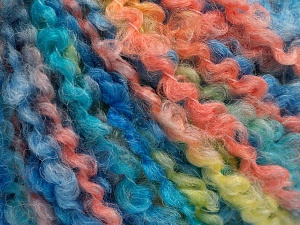 Fiber Content 55% Acrylic, 35% Wool, 10% Polyamide, Salmon, Light Yellow, Brand Ice Yarns, Blue Shades, Yarn Thickness 5 Bulky  Chunky, Craft, Rug, fnt2-65230