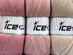 Fiber Content 100% Antipilling Acrylic, Orchid, Light Camel, Brand Ice Yarns, Yarn Thickness 4 Medium  Worsted, Afghan, Aran, fnt2-65264