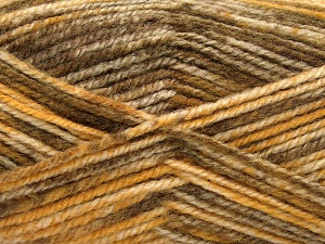 Fiber Content 50% Premium Acrylic, 50% Wool, Brand Ice Yarns, Gold, Brown Shades, Yarn Thickness 4 Medium  Worsted, Afghan, Aran, fnt2-65283