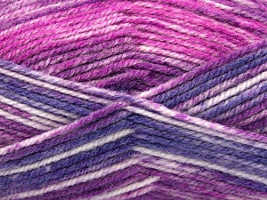 Fiber Content 50% Wool, 50% Premium Acrylic, Purple, Brand Ice Yarns, Fuchsia, Yarn Thickness 4 Medium  Worsted, Afghan, Aran, fnt2-65291