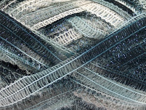 Fiber Content 50% Wool, 37% Polyamide, 13% Metallic Lurex, Brand Ice Yarns, Grey Shades, Black, Beige, Yarn Thickness 4 Medium  Worsted, Afghan, Aran, fnt2-65302