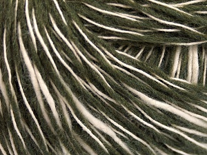 Fiber Content 55% Cotton, 45% Acrylic, Brand Ice Yarns, Dark Khaki, Cream, Yarn Thickness 3 Light  DK, Light, Worsted, fnt2-65321