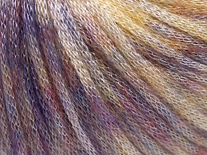 Fiber Content 62% Polyester, 19% Merino Wool, 19% Acrylic, Lilac, Light Yellow, Brand Ice Yarns, Yarn Thickness 4 Medium  Worsted, Afghan, Aran, fnt2-65328