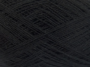 Fiber Content 60% Cotton, 40% Linen, Brand Ice Yarns, Black, Yarn Thickness 1 SuperFine  Sock, Fingering, Baby, fnt2-65335