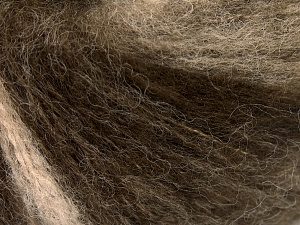 Mohair  Fiber Content 30% Wool, 30% Mohair, 20% Polyamide, 20% Acrylic, Brand Ice Yarns, Brown Shades, fnt2-65344