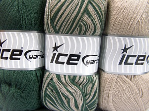 Fiber Content 100% Antipilling Acrylic, Brand Ice Yarns, Green, Beige, Yarn Thickness 4 Medium  Worsted, Afghan, Aran, fnt2-65370