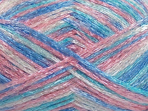 Fiber Content 50% Polyamide, 37% Acrylic, 13% Mohair, Pink Shades, Brand Ice Yarns, Cream, Blue Shades, Yarn Thickness 3 Light  DK, Light, Worsted, fnt2-65449