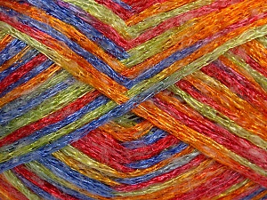 Fiber Content 50% Polyamide, 37% Acrylic, 13% Mohair, Red, Orange, Lavender, Brand Ice Yarns, Green, Yarn Thickness 3 Light  DK, Light, Worsted, fnt2-65451